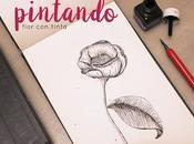 Pintando: Flor tinta