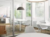 Distribución Oficinas: Trabajo, reuniones descanso