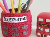 Porta-agujas crochet london calling