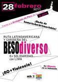 febrero: Ruta Latinoamericana caribeña Beso Diverso Solidaridad Lima