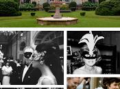 Baile máscaras B&W para celebrar años Iturrioz