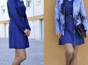 Vestido azul blazer dye. colaborando rosegal.