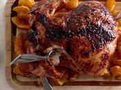 pollo horno miel, jengibre naranjas
