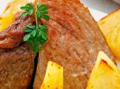 Ternera asada salsa piña