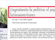Degradando política: populismo latinoamericano