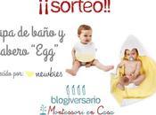 Sorteo capa baño babero Newbies blogiversario Montessori Casa)