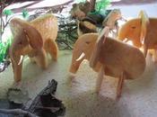 Galletas puzzle elefantes corazones mermelada