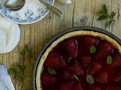 Pastel fresas hierbabuena