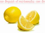 Cómo limpiar microondas limón