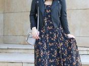 Outfit vestido largo flores
