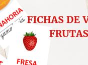 Fichas imprimibles vocabulario: Frutas verduras