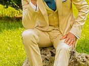 Traje italiano medid beige raso algodón