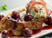 Receta torrijas cereza helado pistacho