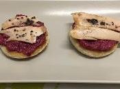 Tosta ventresca bonito trufada mayonesa remolacha