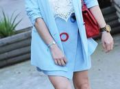 Falda azul gamuza anillas