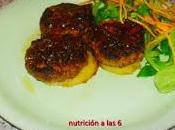 Minihamburguesitas cebolla pochada patata