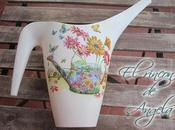 Como hacer decoupage relieve sobre superficie plastico