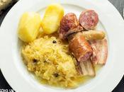 Receta chucrut alsaciana (choucroute l'alsacienne). Cocina francesa