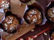 Muffins mantequilla cacahuete plátano