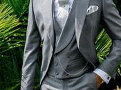 Chaqué novio gris claro lana-seda