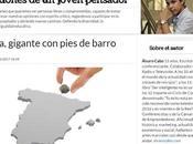 España, gigante pies barro