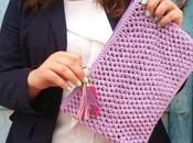 CLUTCH punto garbanzo crochet
