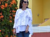 Zara frilled shirt mules