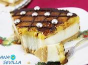 Tarta ricotta yema tostada (Sin horno)