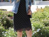 Lace dots dress