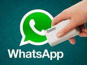 puedes borrar mensajes receptor WhatsApp