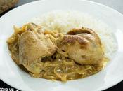 Receta yassa pollo salsa mostaza limón. Cocina Senegal