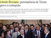 Catedrático brasileño: permanencia Temer agrava corrupción Brasil