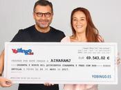 Jorge Javier Vázquez entrega mayor premio bote acumulado YoBingo jugadora Sevilla