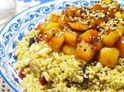 Ensalada quinoa manzana caramelizada frutas secas