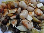 Porotos, aceitunas queso judiones, olivas