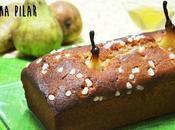 Loaf cake peras vino blanco canela