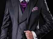 Traje italiano medida gris antracita mixto lana