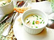 Crema queso parmesano huevos codorniz