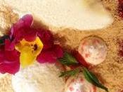 Fresas marinadas trufas coco