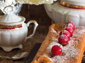 Plum cake relleno cerezas