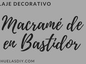 RECICLAJE DECORATIVO Tapiz macramé trapillo bastidor