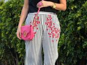 Outfit culotte rayas flores