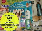 Revistas Julio 2017 (Revistas, Suscripciones viene)