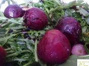 Ensalada rúcula guayabo fresa