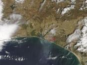 Huelva: Imagen satélite incendio forestal Doñana (25/06/2017)