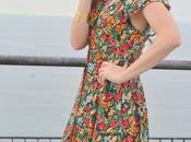 Vestido camisero largo flores