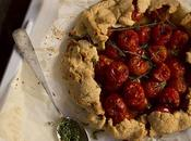 Galette tomates cherry, parmesano tomillo