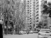 blanco negro paisaje urbano.