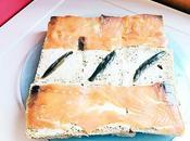 Pastel frío salmón