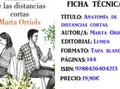 Reseña: Anatomía distancias cortas, Marta Orriols